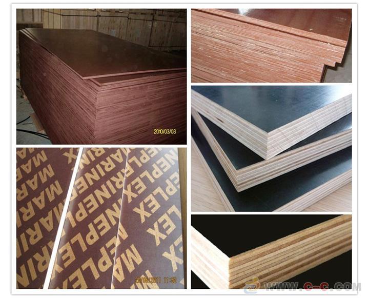 Black/brown film construction plywood 4