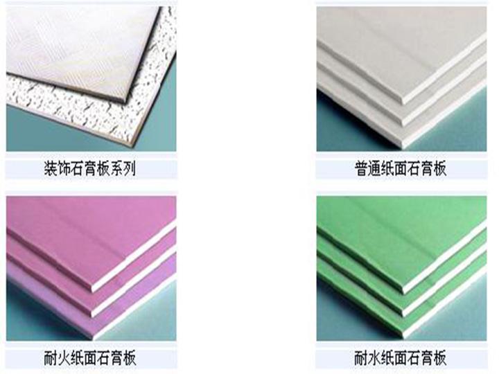Plasterboard types
