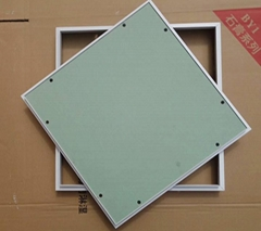Gypsum board ceiling access panels for indoor repair work
