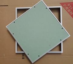 Gypsum board ceiling access panels for indoor repair work