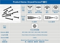 Plasterboard screw/drywall screw fixing