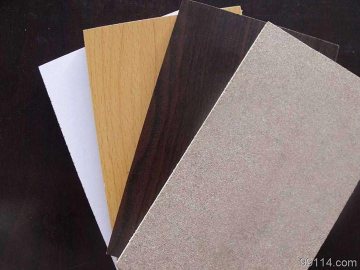 Melamine film face particle board
