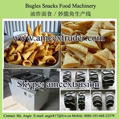 Frying snacks bugles food machine