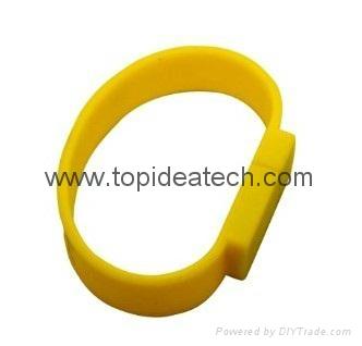 bracelet wristband USB flash drives with OEM logo print 1