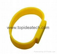 bracelet wristband USB flash drives with OEM logo print