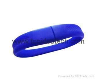 bracelet wristband USB flash drives with OEM logo print 3
