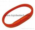 bracelet wristband USB flash drives with OEM logo print 2