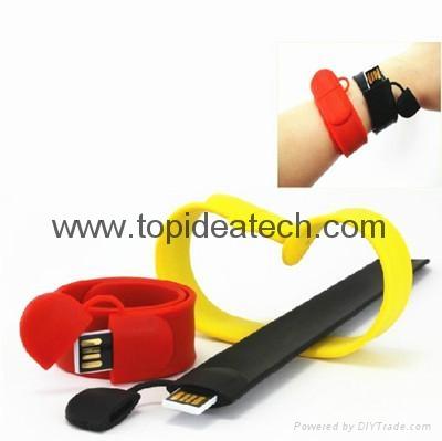 bracelet wristband USB flash drives with OEM logo print 4