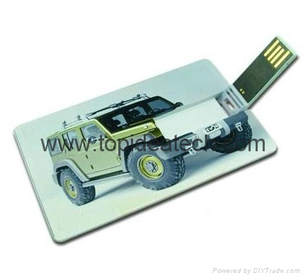 Credit card shape promotional USB flash drives wholesale in China 1