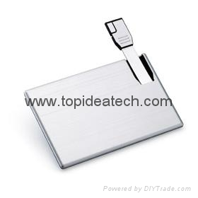 Credit card shape promotional USB flash drives wholesale in China 2