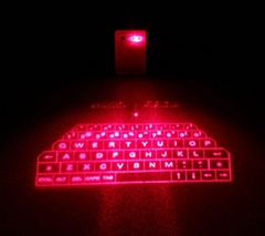 2015 new products mini wireless bluetooth virtual projection laser keyboard
