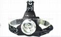 Popular 4W 460 Lumens Q5 LED Headlamp