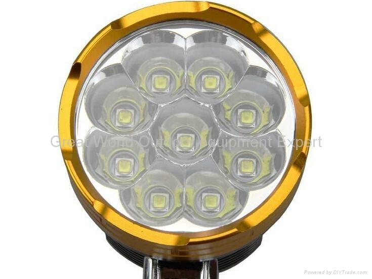 GW-BL09 Waterproof 9xT6 13800 LM Bicycle LED Light 3