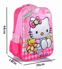 3D Hellokitty School Bag For Girls