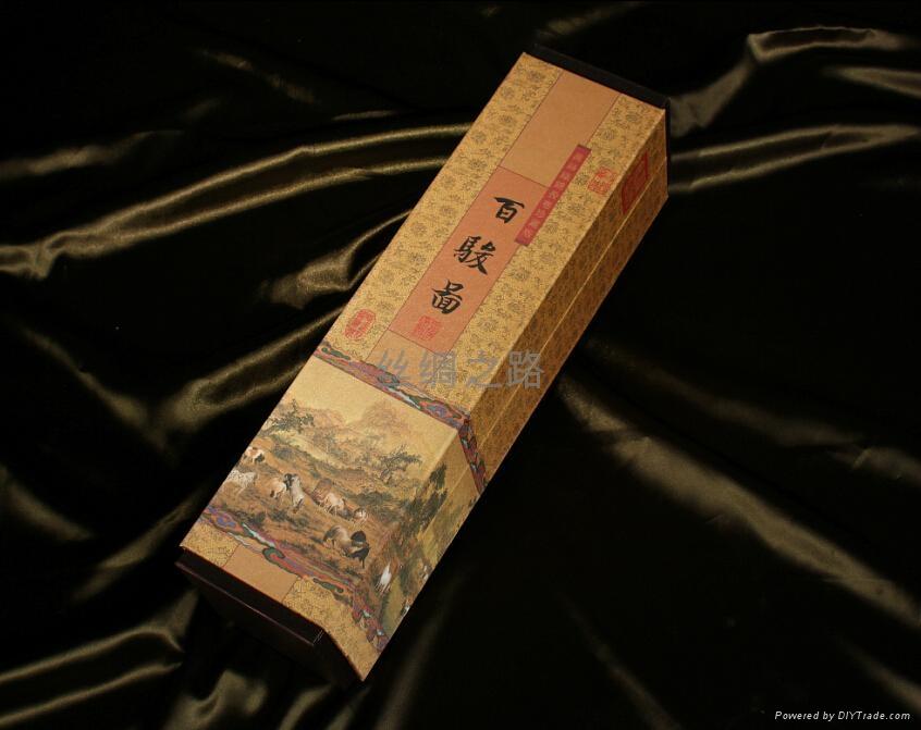 《百駿圖》絲綢珍品畫 5