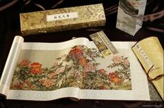 《國色天香牡丹圖》真絲織錦畫