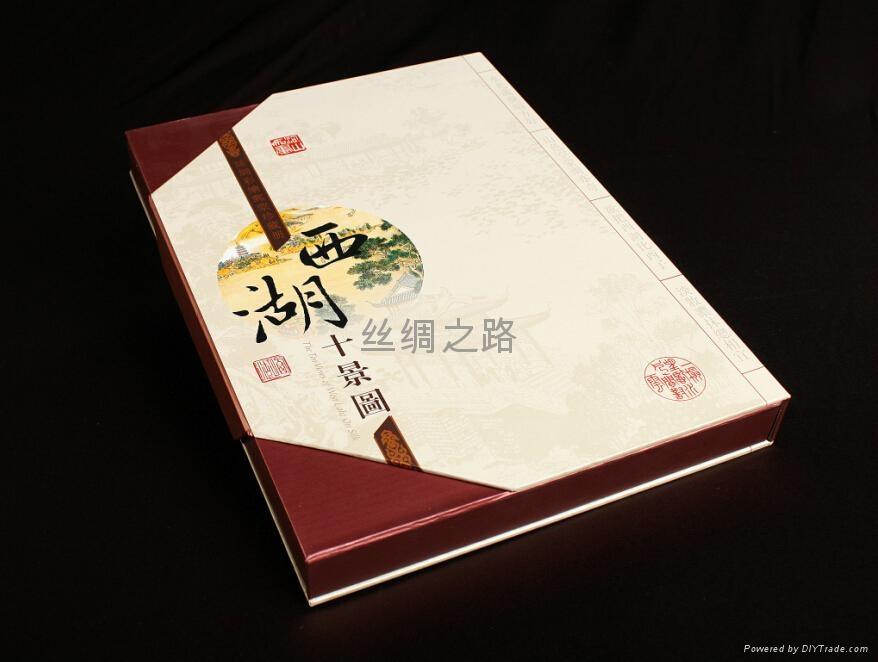 西湖十景絲綢郵票冊 5