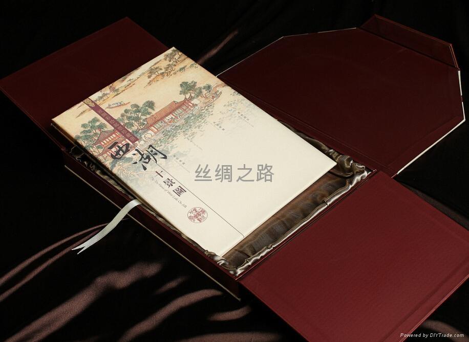西湖十景絲綢郵票冊 4