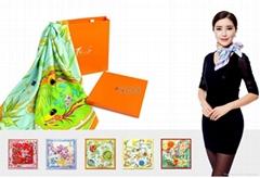 國花系列大方巾