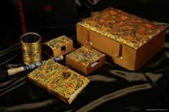 絲綢織錦文房四寶