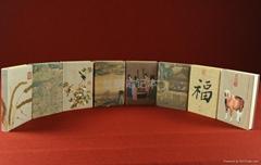 中国风丝绸笔记本