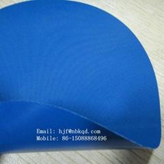 REACH環保無毒無滑石粉藍色夾網丁晴橡膠布手感硬
