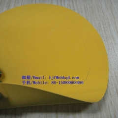 黃色阻燃橡膠防化服面料0.45mm