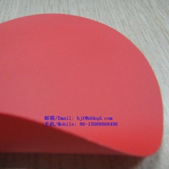 0.5mm红色阻燃耐酸碱PVC防化服面料