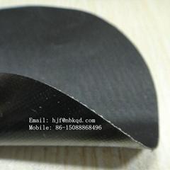 0.6mm黑色耐磨氯丁橡膠布 箱包用橡膠夾網布