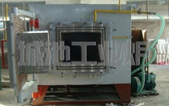 Pre pumping box type vacuum furnace