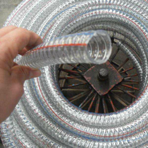 可压制不锈钢接头钢丝增强硅胶管 3