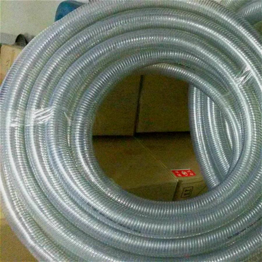 可压制不锈钢接头钢丝增强硅胶管 4