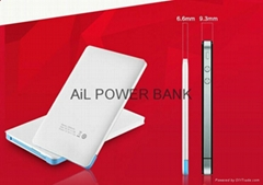 AiL 2015 promotional item card style supper slim power bank