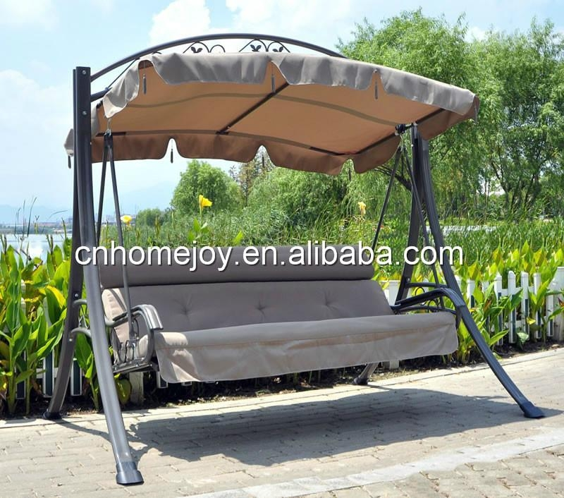 Luxury 3 Seater Garden Swing Chair With Cushion Hjsw 861
