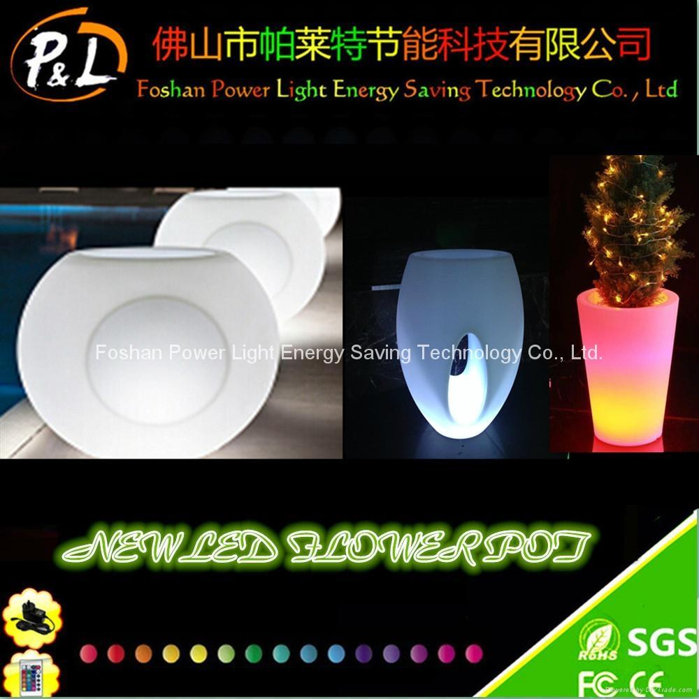 Home Decorative Resin LED Lighting Garden Flower Pot 1