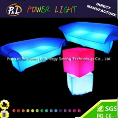 illuminated led bar stool led cube seat