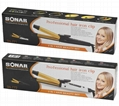 2in1 hair iron with hair straightener and curling iron