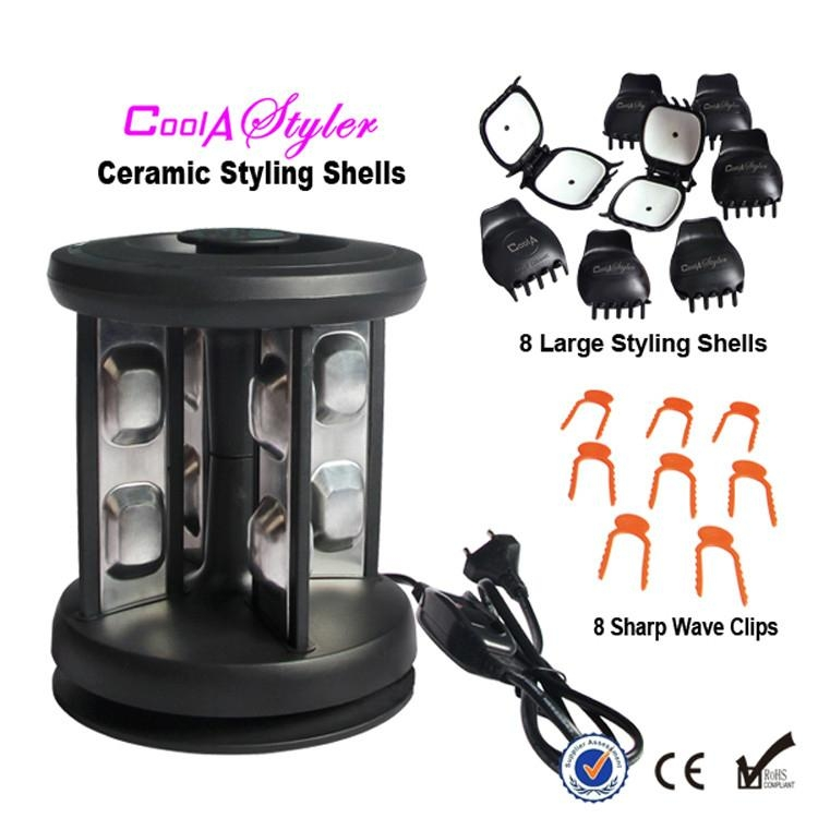TopStyler Heated Ceramic Styling Shells Hair Curlers