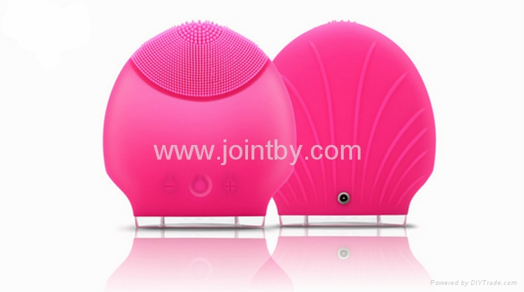 Skin care home Spa deep cleansing facial brush Silicone Facial Cleansing Brush 4