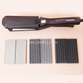 Hotsell interchangeable flat iron with teeth hair straightener curling iron