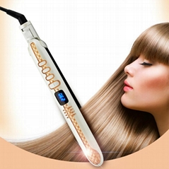 With temperature control Ceramic Hair straightener with LCD hair styler iron