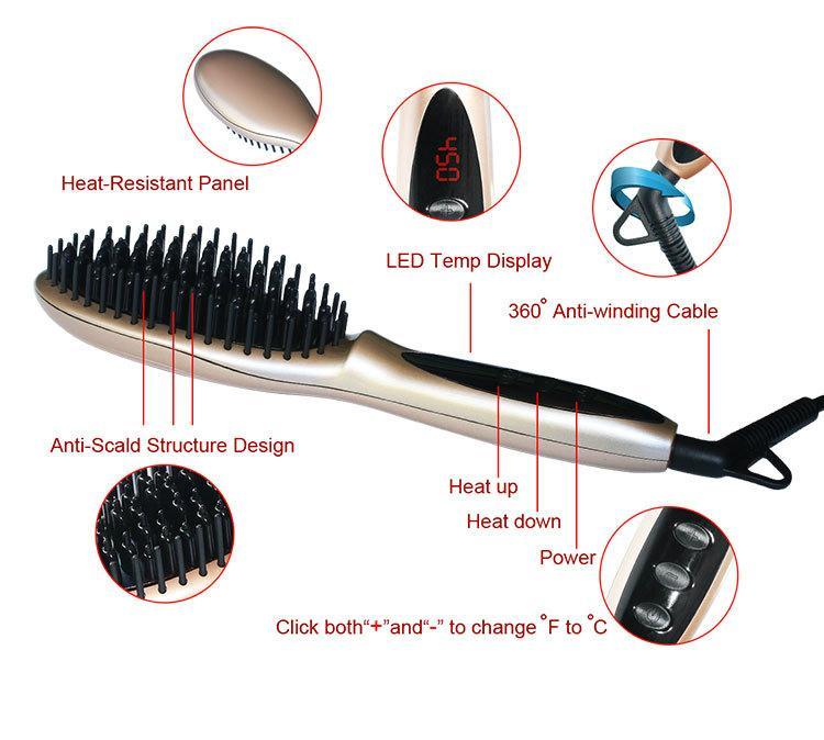 Magic Straight Hair Styling as seen tv Straightening Comb Fast Hair straightener 3