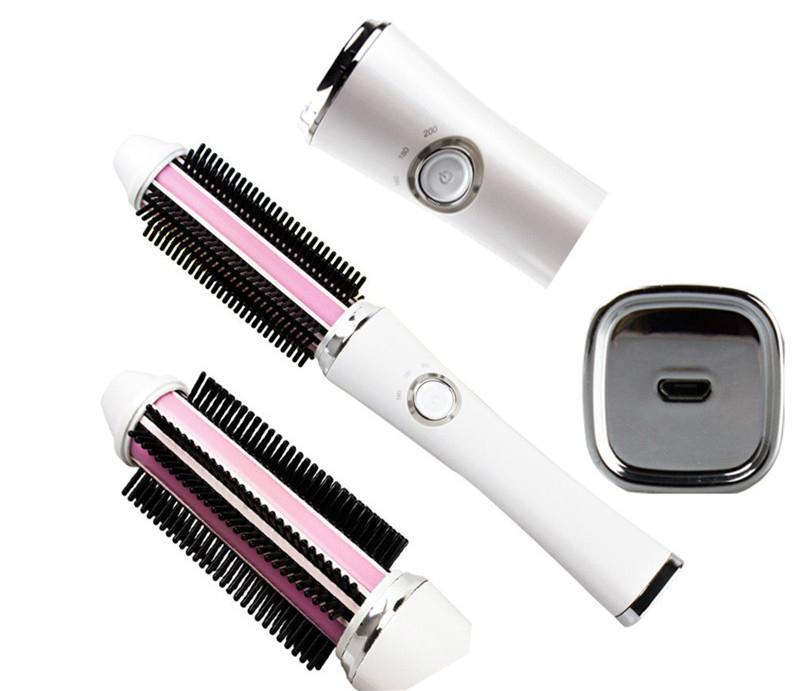 Corless Hair Curler Wireless Hair curler Brush with USB charging