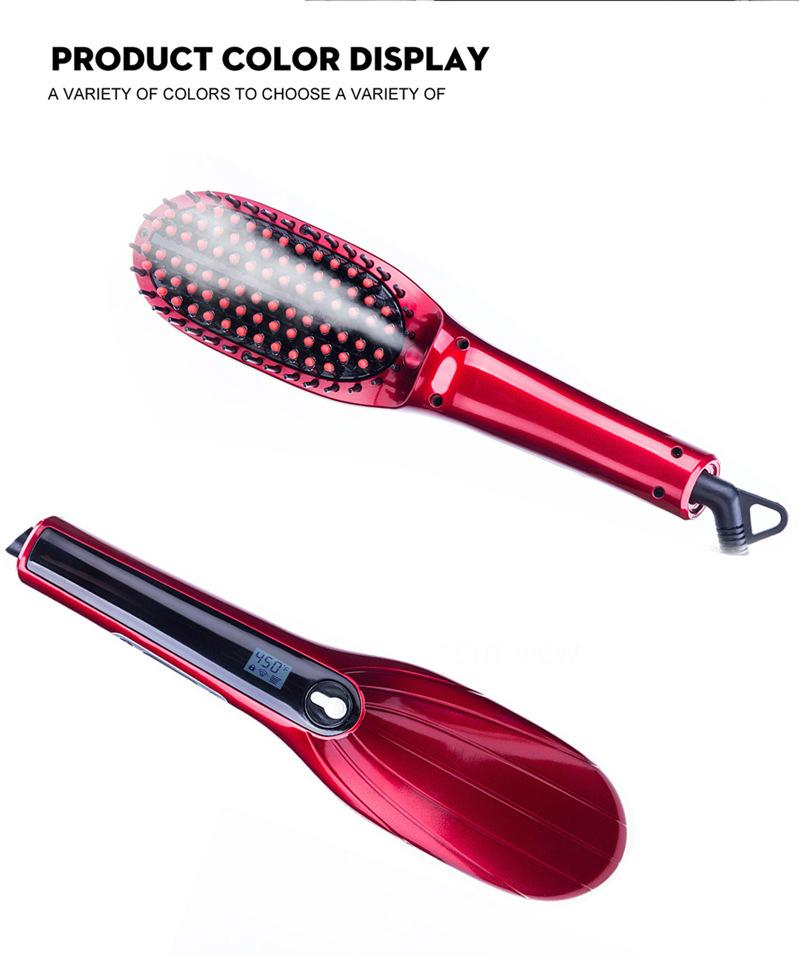 electric hair styling brushes steam electric hair brush sprayer hair straightener comb 5544