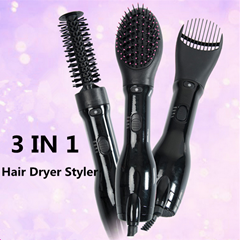 Hot Hair dryer Comb 3 IN 1 HAIR DRYER STYLER SET