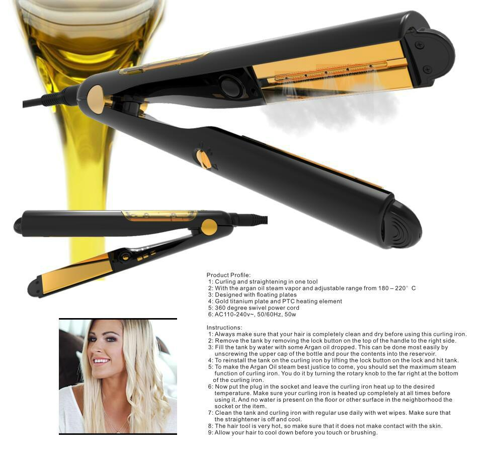 Oil infused flat iron Hair Straightener infused with oil Hotsell in Morocco 2