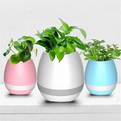 Music Flowerpot Smart Music Plant Lamp Rechargeable Wireless Bluetooth Speakers