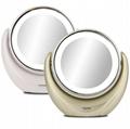 Desktop Mirror 360 Degree Swivel Cordless Magnifying Makeup Mirror with Lights