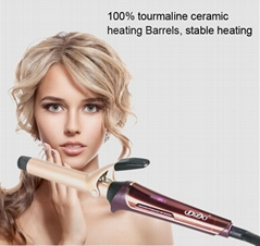 Tourmaline Ceramic Hair Curler LCD Curling Iron