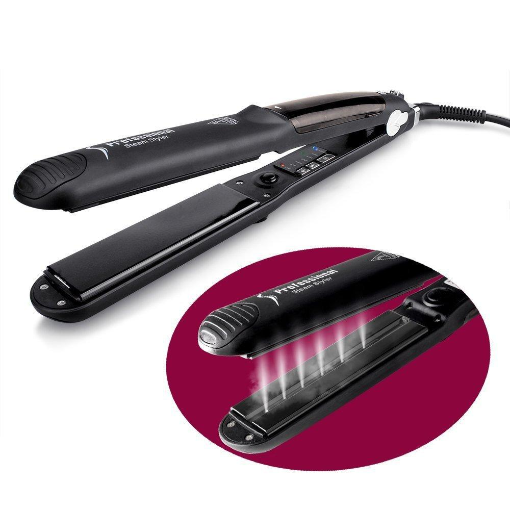 Hot Sell Steamer Flat Iron Hair Straightener with Spray